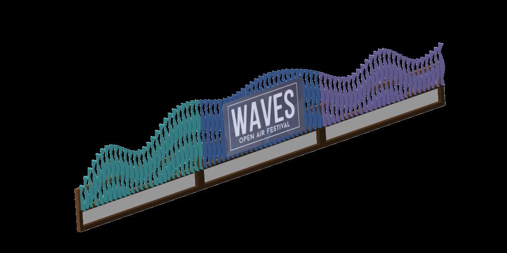 Bühnenverkleidung Waves